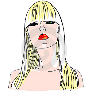 Vector Blond Girl Royalty Free Stock Photo - Image: 20984105