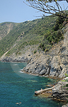 Cinque Terre Coastal Path Italy Royalty Free Stock Images - Image: 20985239