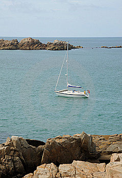 Yacht In The Bay. Guernsey Stock Photography - Image: 20985732