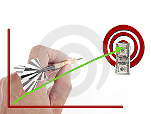 Hand Throwing Dart To Target Stock Photo - Image: 20987160