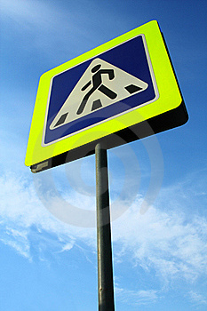 Pedestrian Crossing Sign Stock Images - Image: 20990584
