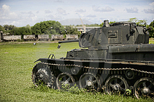 Tank From WW2 Era Royalty Free Stock Photos - Image: 20993888