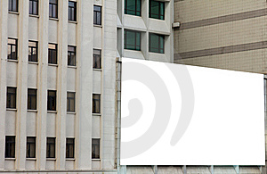 Large Billboard Advertisement On Buildings Royalty Free Stock Image - Image: 20998476