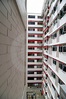 Facade Of A Low Cost Housing Multistorey Building Stock Images - Image: 20998544