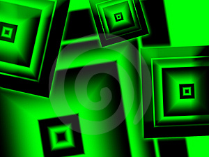 Green and black diamonds Royalty Free Stock Image