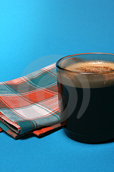 Coffee-and-towel-01 Lizenzfreie Stockbilder
