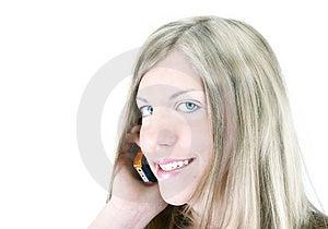 Meisje en Haar Telefoon Royalty-vrije Stock Fotografie