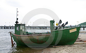 Old Fishing Boat Stock Photos