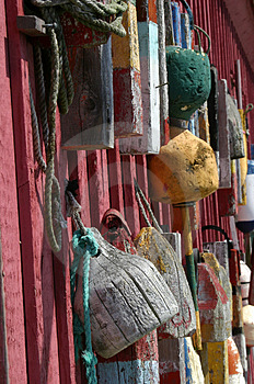 Bouys In Rockport, Massachusetts Stock Photography