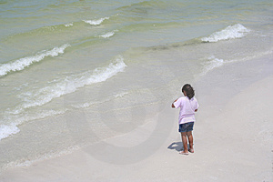 Divertimento alla spiaggia Immagine Stock