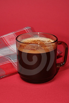 Coffee-and-towel Stock Image