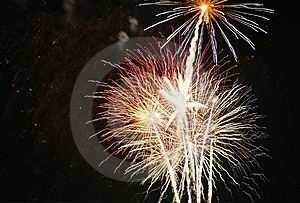 Fireworks At Night Free Stock Photography