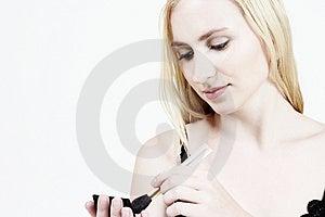 Make-up: Blond Girl 11 Free Stock Photo
