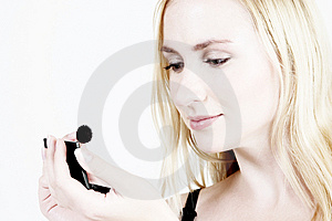 Make-up: Blond Girl 12 Free Stock Image