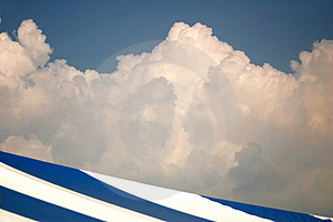 Blu e bianco Fotografie Stock