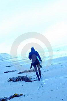 Błękitni surfingowowie 6 Fotografia Stock