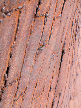 Abstract - Rusted Metal Plates Free Stock Photography