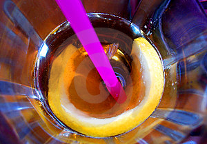 Flower In My Drink Stock Images