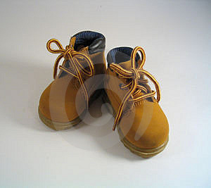 Toddler boots Royalty Free Stock Photography
