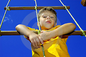 Child Climbing Free Stock Image