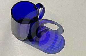 Taza de café azul Fotos de archivo