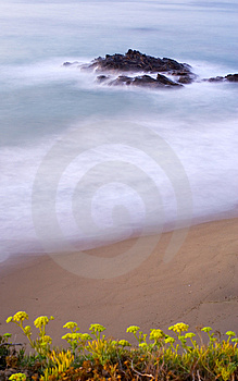 Milky Early Morning Seas In Spain Stock Photography