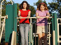 Teens at the playground Stock Photo