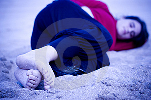 Cold In The Sand Royalty Free Stock Photo - Image: 2105445