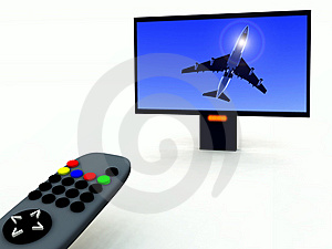 TV Control And TV 17 Royalty Free Stock Photos - Image: 2106988