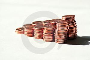 More pennies Royalty Free Stock Image