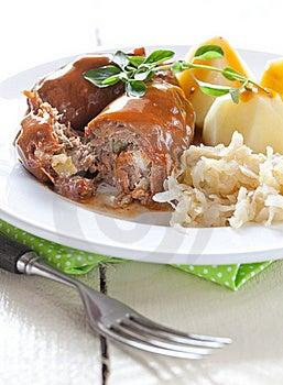 Fresh Roulades With Sauerkraut Royalty Free Stock Image - Image: 21000666
