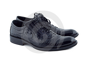 Men's Shoes On White Background. Royalty Free Stock Photos - Image: 21004648