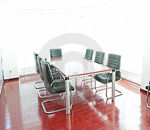 Conference Table And Comfortable Chairs Stock Photo - Image: 21010700