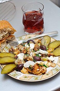 Heavy Romanian Breakfast Stock Images - Image: 21012244