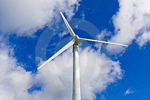 Wind Turbine And Blue Sky Royalty Free Stock Photo - Image: 21012645