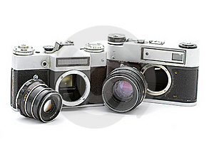 Russian Old Cameras Stock Image - Image: 21015311