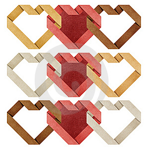 Heart Origami Recycled Paper Stock Photography - Image: 21016542