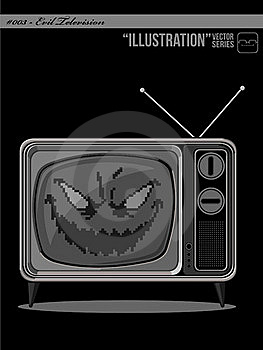 Illustration #003 - Evil Television Royalty Free Stock Photos - Image: 21017888