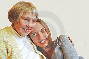 Young Woman With Grandmother Royalty Free Stock Photography - Image: 21018937