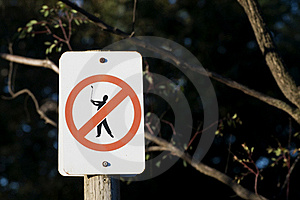Golf Not Pemitted Stock Photos - Image: 21019923