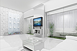 Living Room Concept 3D Stock Photography - Image: 21020232