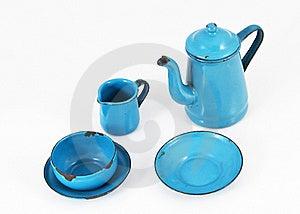 Blue Enamel Kitchenware Royalty Free Stock Photos - Image: 21021528