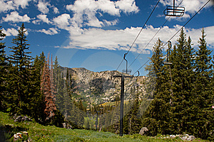 Summertime Ski Lift Royalty Free Stock Photography - Image: 21026267