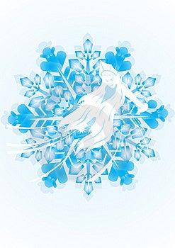 Snow Maiden On A Snowflake Stock Photo - Image: 21027110