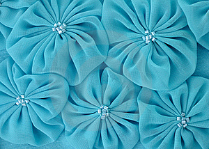 Blue Fabric Flowers Stock Photography - Image: 21028542