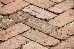 Red Brick Path Stock Photo - Image: 21029280