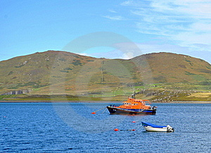 Lifeguard Boat In The Bay Stock Photos - Image: 21030183