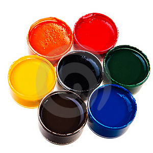 Colorful School Water Paints. Royalty Free Stock Image - Image: 21038956