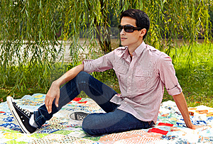 Attractive Young Man Outside Royalty Free Stock Images - Image: 21038989