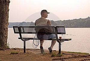 Fishing At Sunset Stock Photography - Image: 21043862